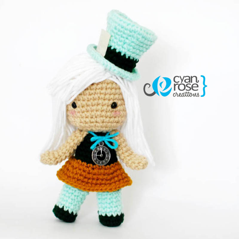 Mad Hatter Amigurumi : Mad Hatter Inspired Crochet Amigurumi Plush Doll by ...