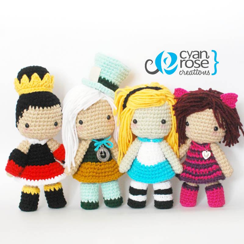 Ravelry: Amigurumi Doll 'Alice in Wonderland' pattern by Crochet ... | 800x800
