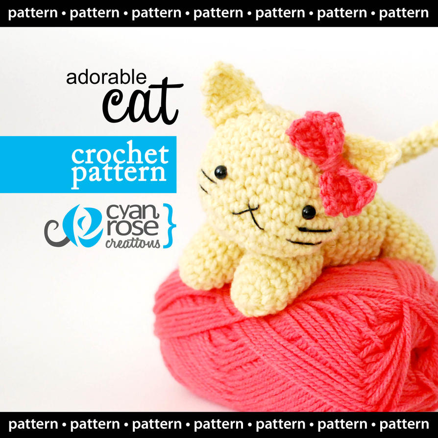 Adorable Cat - Crochet Pattern - Instant Download by ...