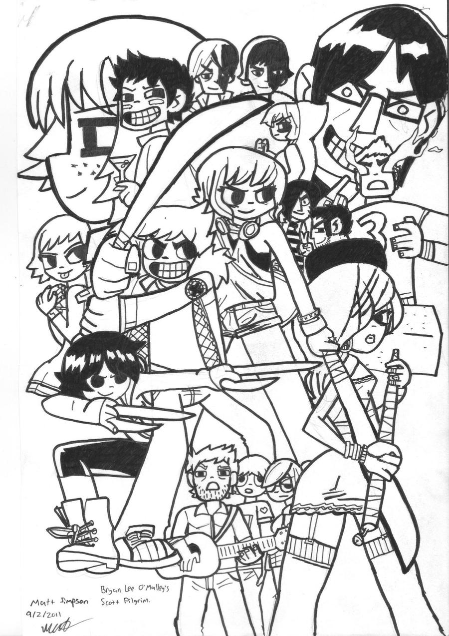 Unusual Scott Pilgrim Coloring Pages Contemporary - Entry Level ...