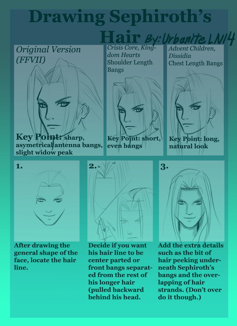 Drawing Sephiroth's Hair (updated version) by UrbaniteLN14