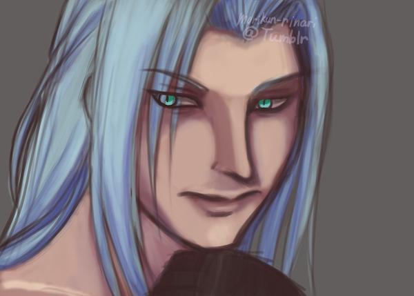 Sephiroth quick painting by morikun-rinari