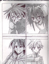 Male leads of Negima by Negi-Magic