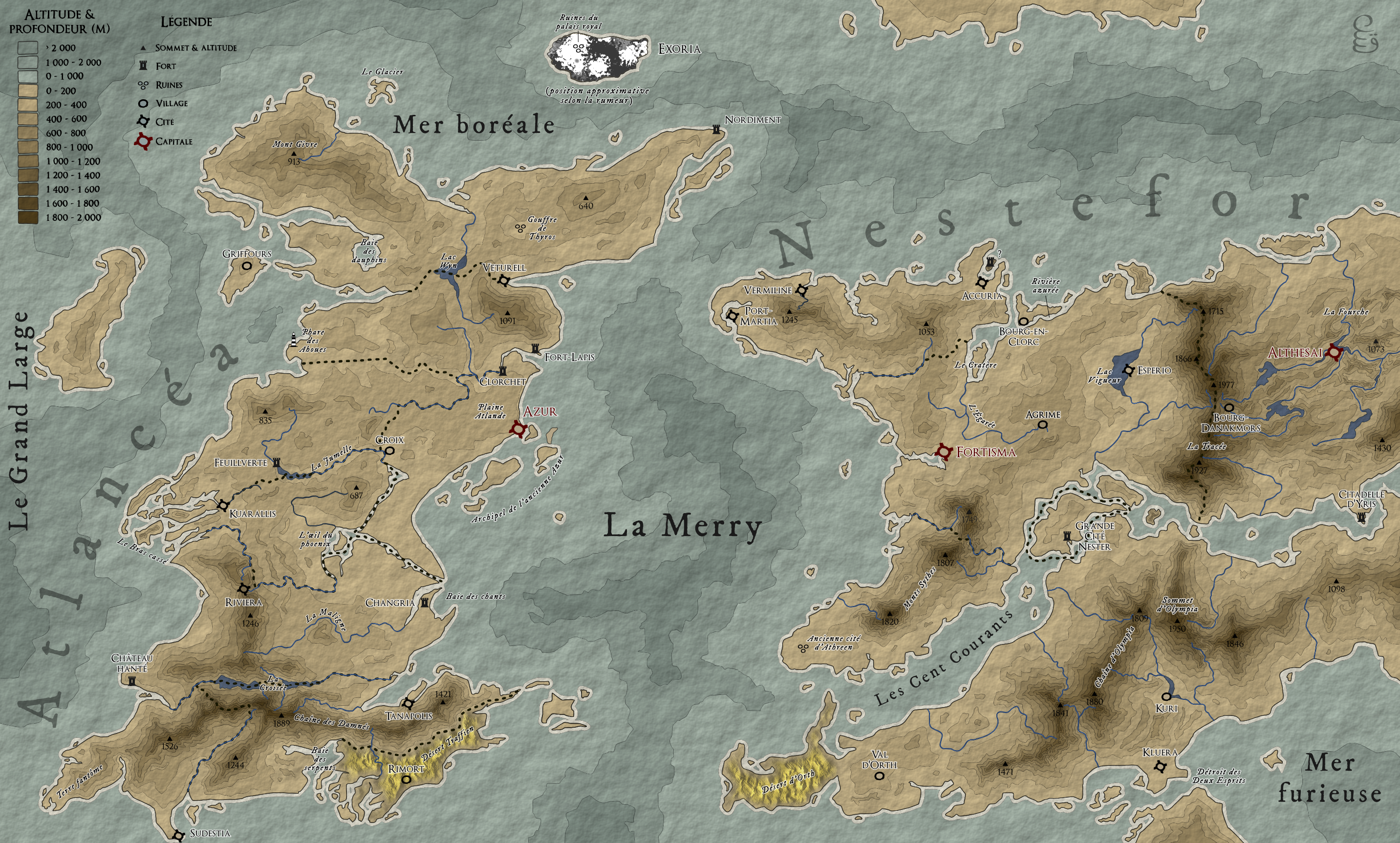 Carte de Nestefor et Atlancéa
