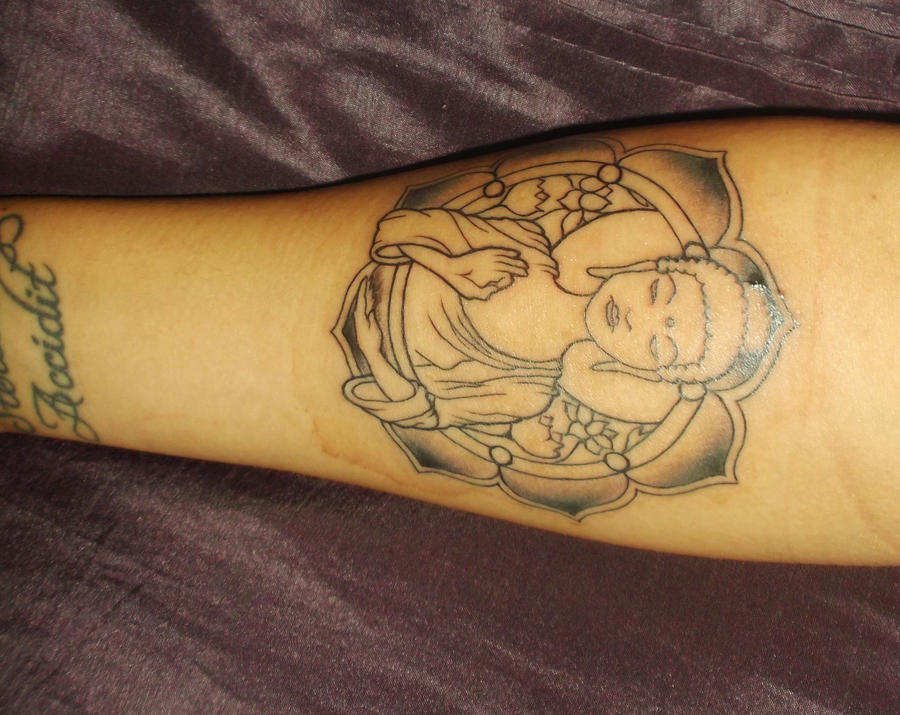 Buddha tattoo by peaceini on deviantart for Can buddhists have tattoos