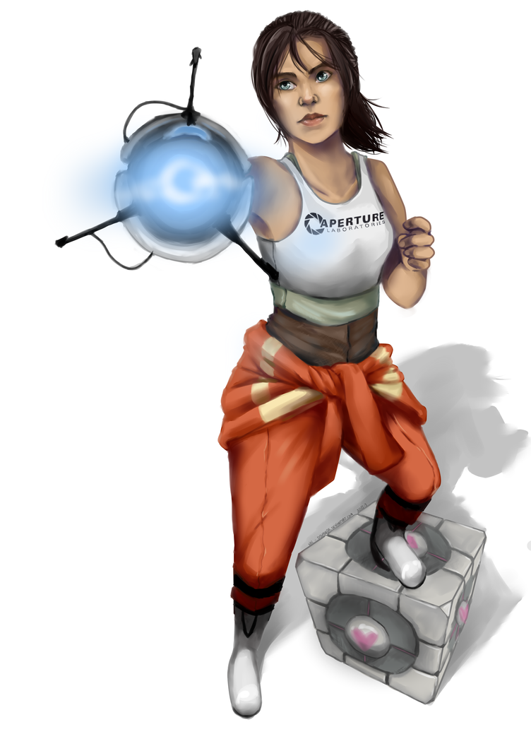 Chell- by ~Dovahkiir | Portal Fun | Pinterest