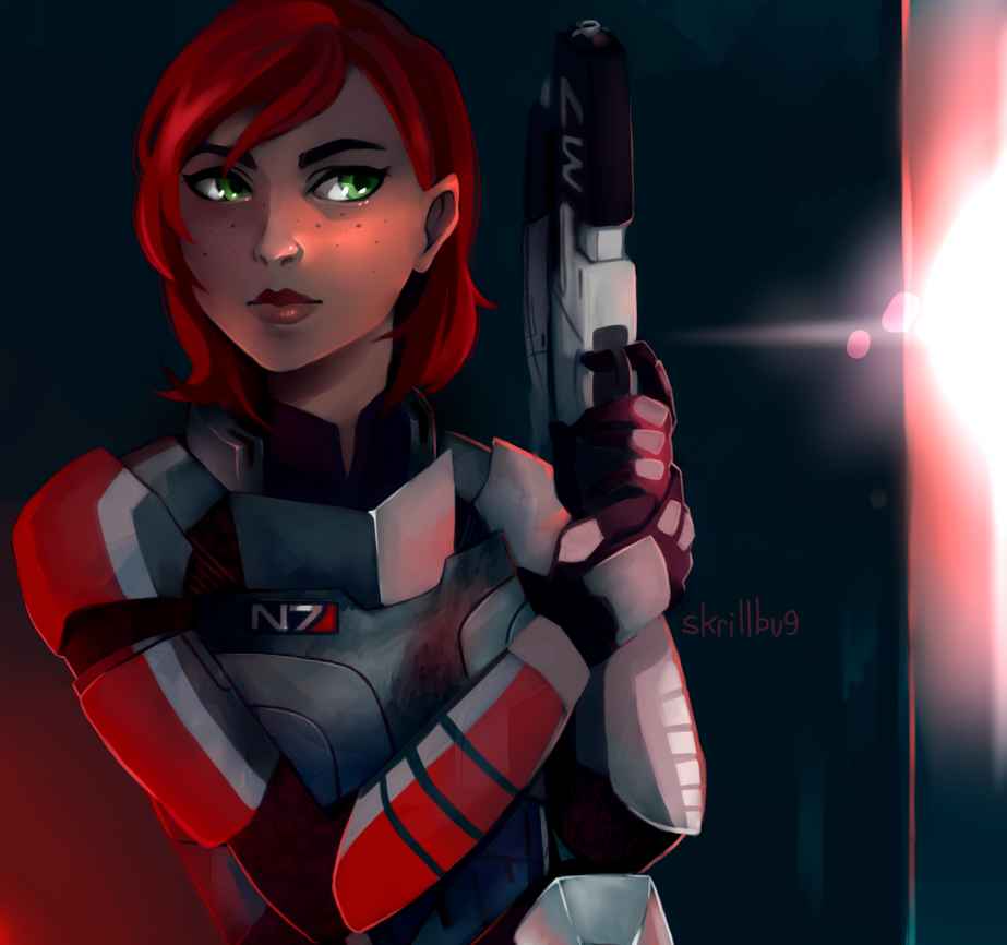 this is commander shepard, signing out by skrillbug
