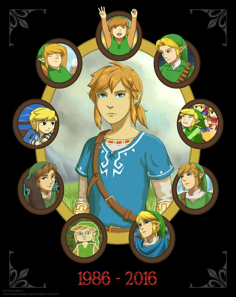 Legend Of Zelda 30th Anniversary By Theunspokenprophet