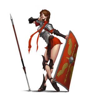 Roman style warrior