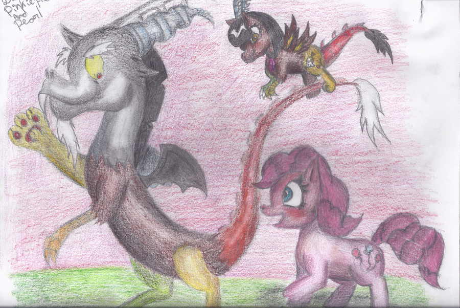 Discord Pinkie Pie and Pearl by JackXAngelicaforever