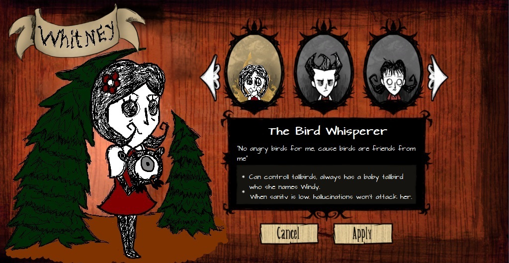 Don't Starve OC: Whitney by JackXAngelicaforever