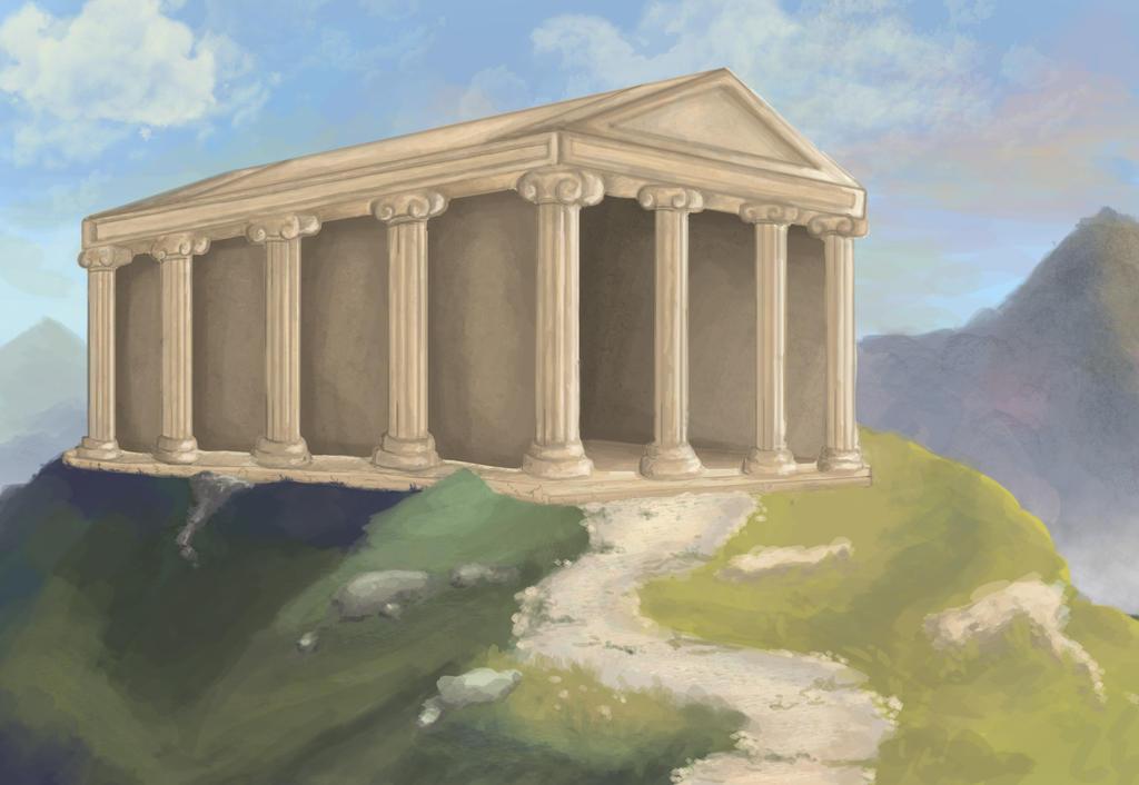 Greek Temple by JackXAngelicaforever