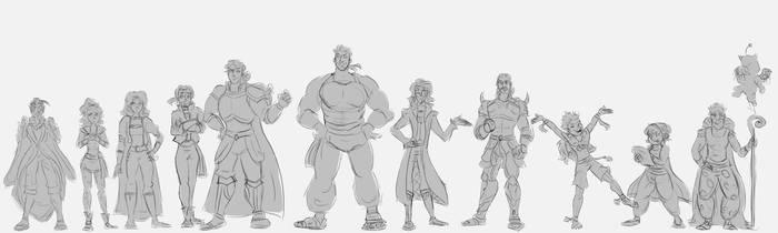 Final Fantasy VI cast by JackXAngelicaforever