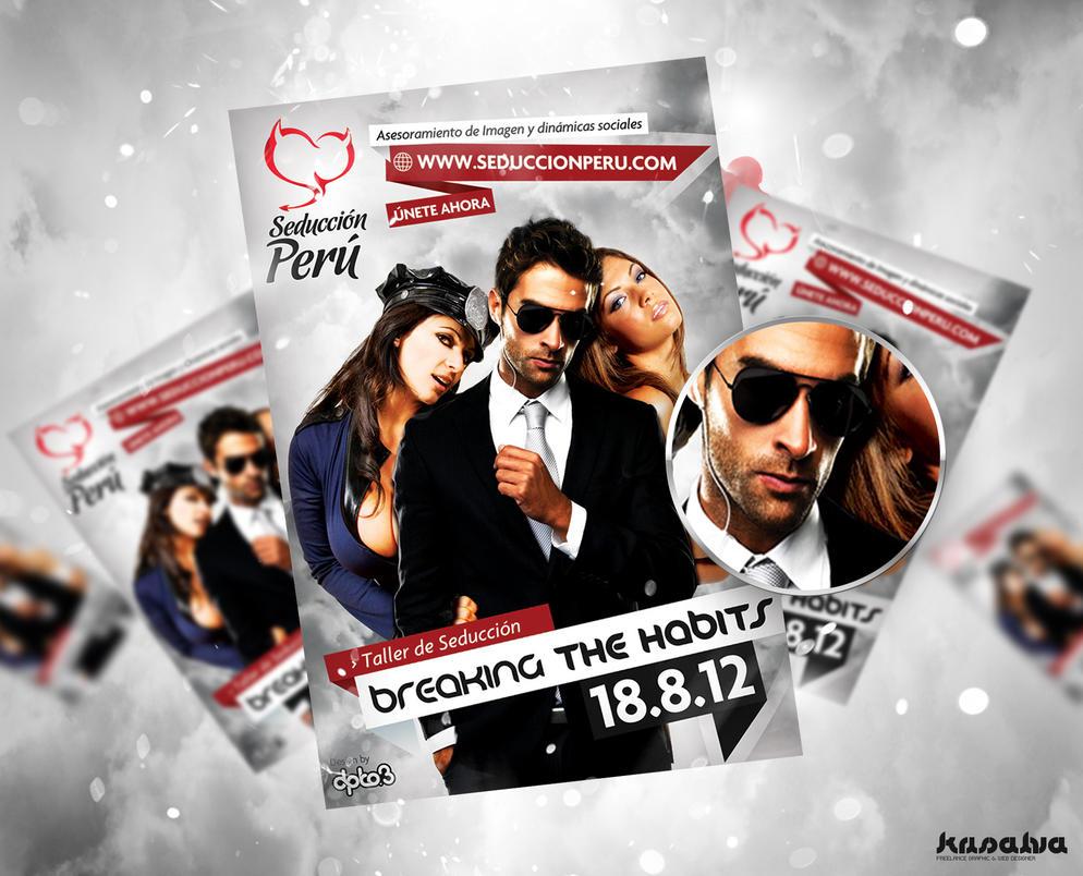 Seduccion Peru - Flyer Breaking the Habits by krisalva