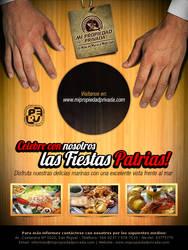 Flyer para cebicheria peruana por fiestas patrias