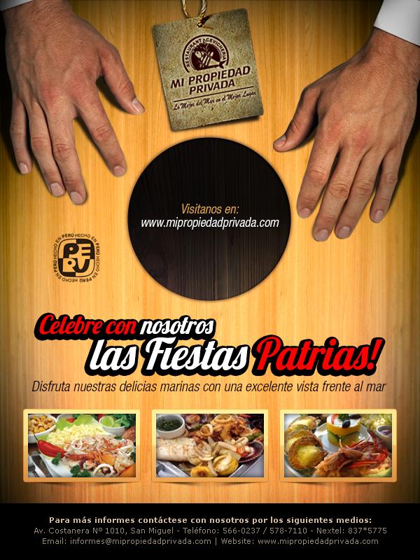 Flyer para cebicheria peruana por fiestas patrias by krisalva