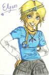 Elyon coloring page by UnderLockandKey14
