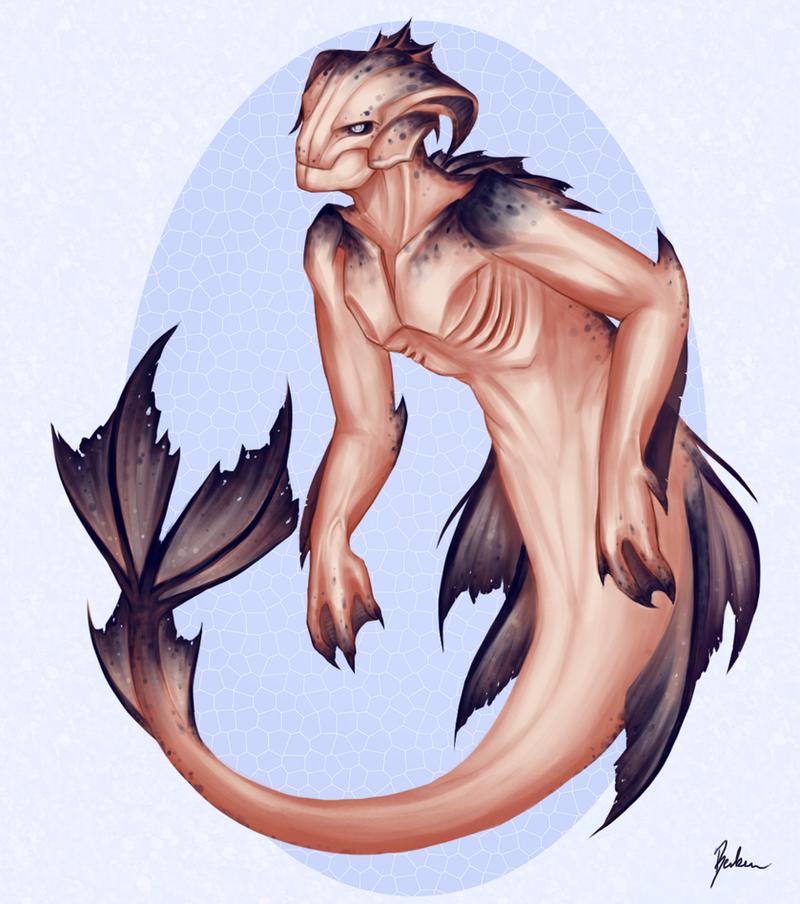 Dragon merman by Becken95