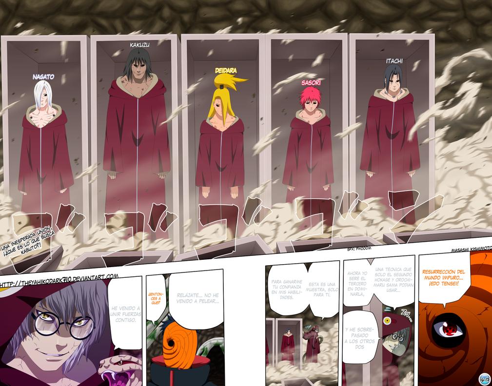 Naruto manga 489 Edo Tensei by IITheYahikoDarkII