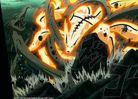 Naruto 607 Dragron Of Wood Vs Fox Fire