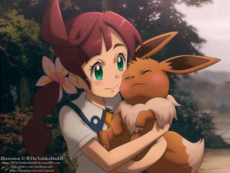 Pokemon Travel Love Eevee by IITheYahikoDarkII