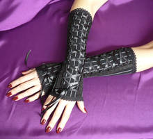 Long Gloves BLACK and BLACK by Estylissimo