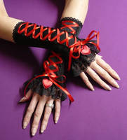 Red Heart Gloves by Estylissimo