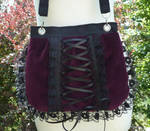 Bordeaux velvet corset bag