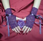 Purple Lace Gloves