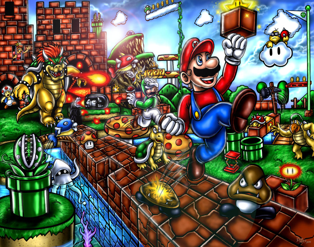 Super Mario Bros. - Mushroom Kingdom Madness by SoulStryder210