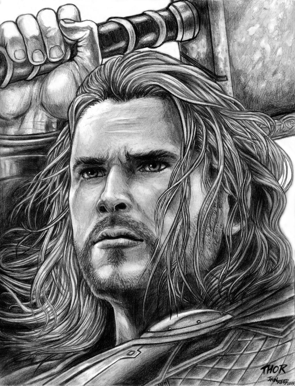Avengers Thor Sketch | Www.pixshark.com - Images Galleries With A Bite!