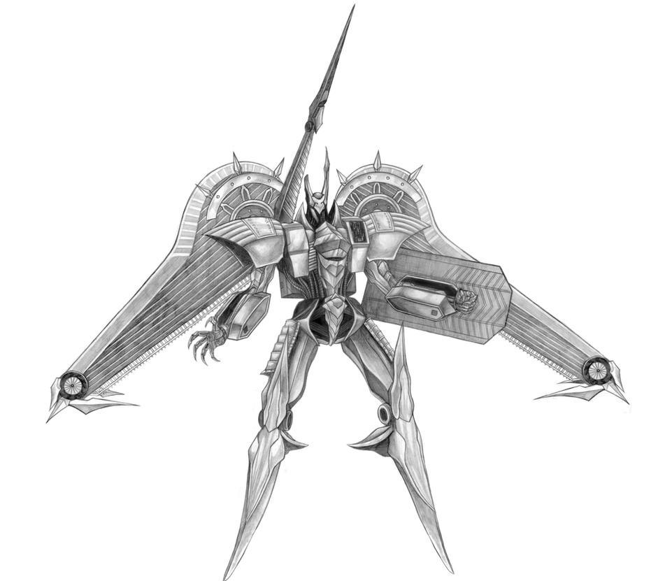 Final Fantasy IX - Ark (Ancient Vessel) Line Art by SoulStryder210