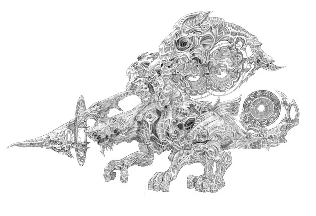 Final Fantasy XII - Yiazmat (Dragon Deity)Line Art by SoulStryder210
