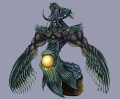Final Fantasy VII - Bizarro Sephiroth by SoulStryder210