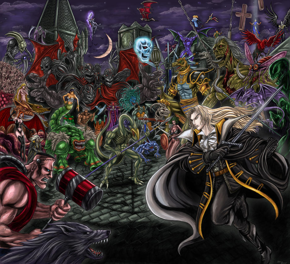 Castlevania-Symphony of theNight-Enchanted Banquet by SoulStryder210