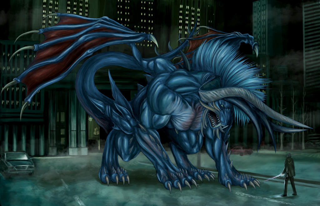 Final Fantasy XV - Behemoth King (Gatekeeper) by SoulStryder210
