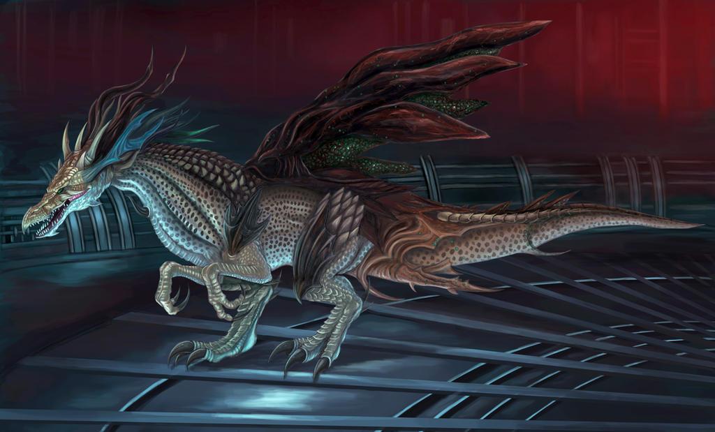Final Fantasy XV -Jabberwock-Lurking in Costlemark by SoulStryder210