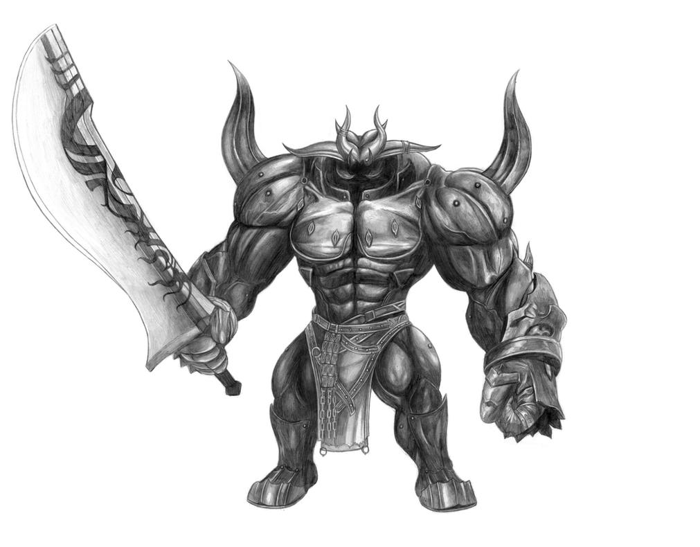 Final Fantasy XV - Iron Giant (Line Art) by SoulStryder210