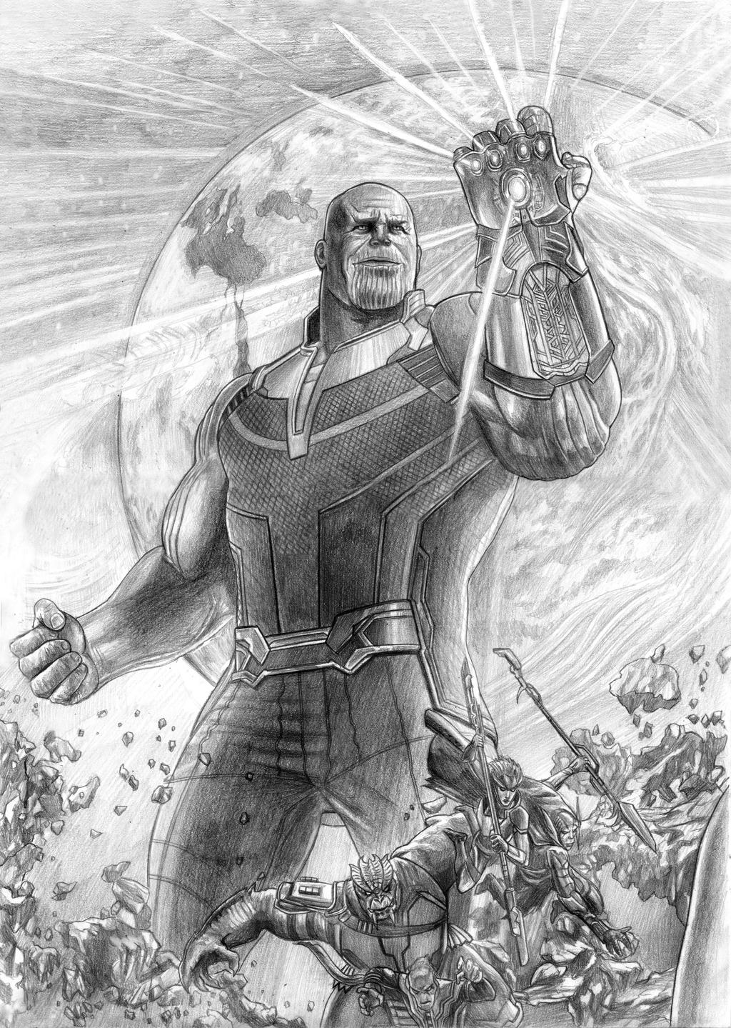 Avengers Infinity War Thanos And The Black Order By