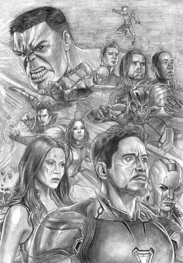Avengers (Infinity War) Assembled (Right Side) By SoulStryder210 On DeviantArt