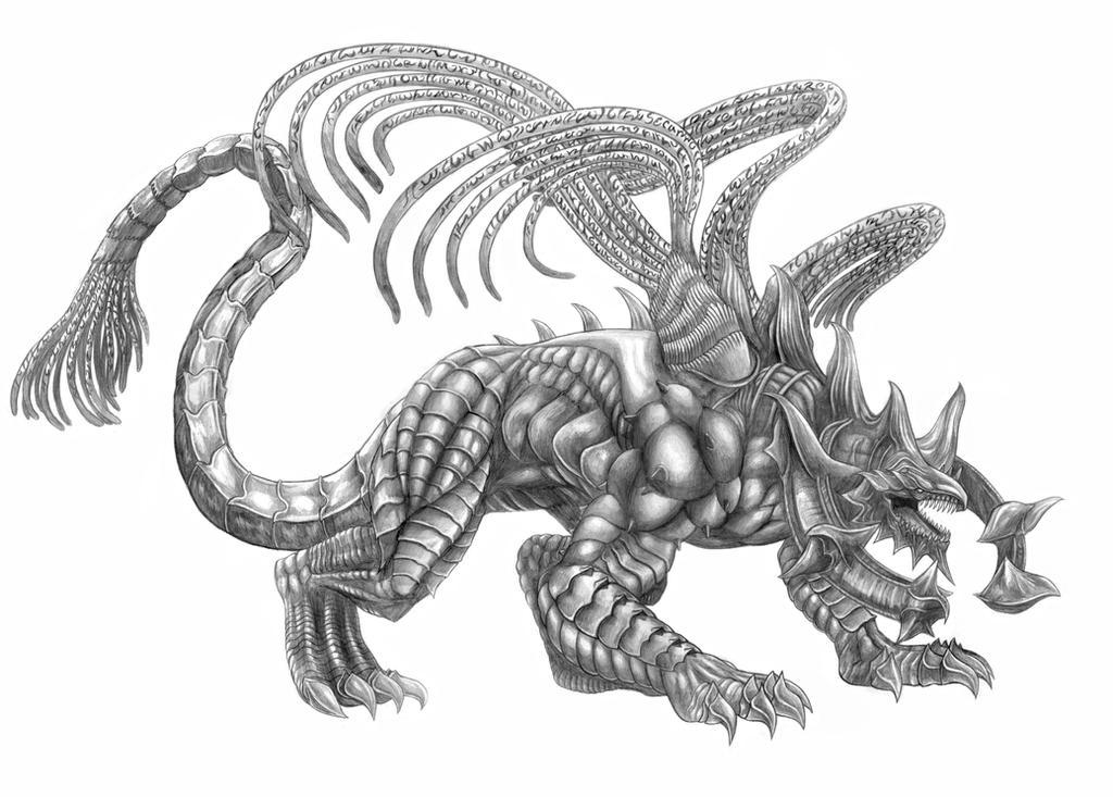 Final Fantasy X Sanctuary Keeper Line Art By
