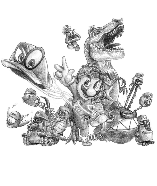 Super Mario Odyssey by SoulStryder210