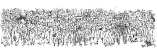 King of Fighters - All Characters (Line Art)