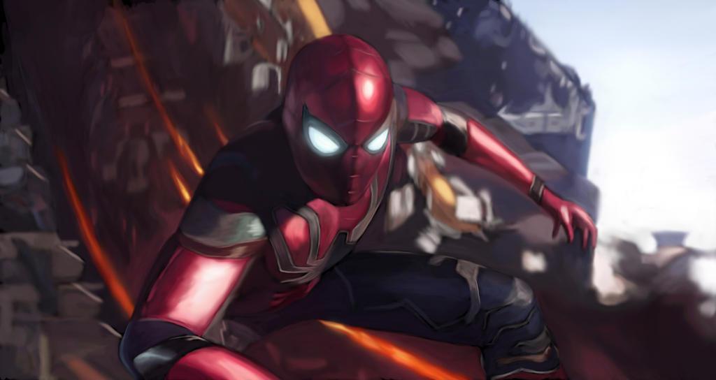 Avengers Infinity War Spiderman By Soulstryder210 On