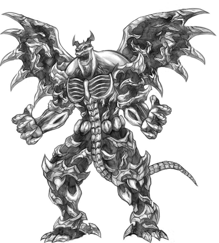 Natas (Warriors of Chaos) Line Art by SoulStryder210