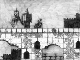 Castlevania (Stage 9) NES - Line Art