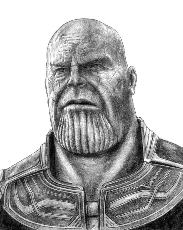 Thanos (Avengers - Infinity War) Line Art By SoulStryder210 On DeviantArt