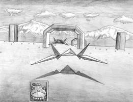 Starfox (Corneria) SNES Line Art by SoulStryder210