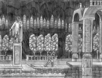 Super Castlevania IV - (Castle Entrance) SNES Line by SoulStryder210