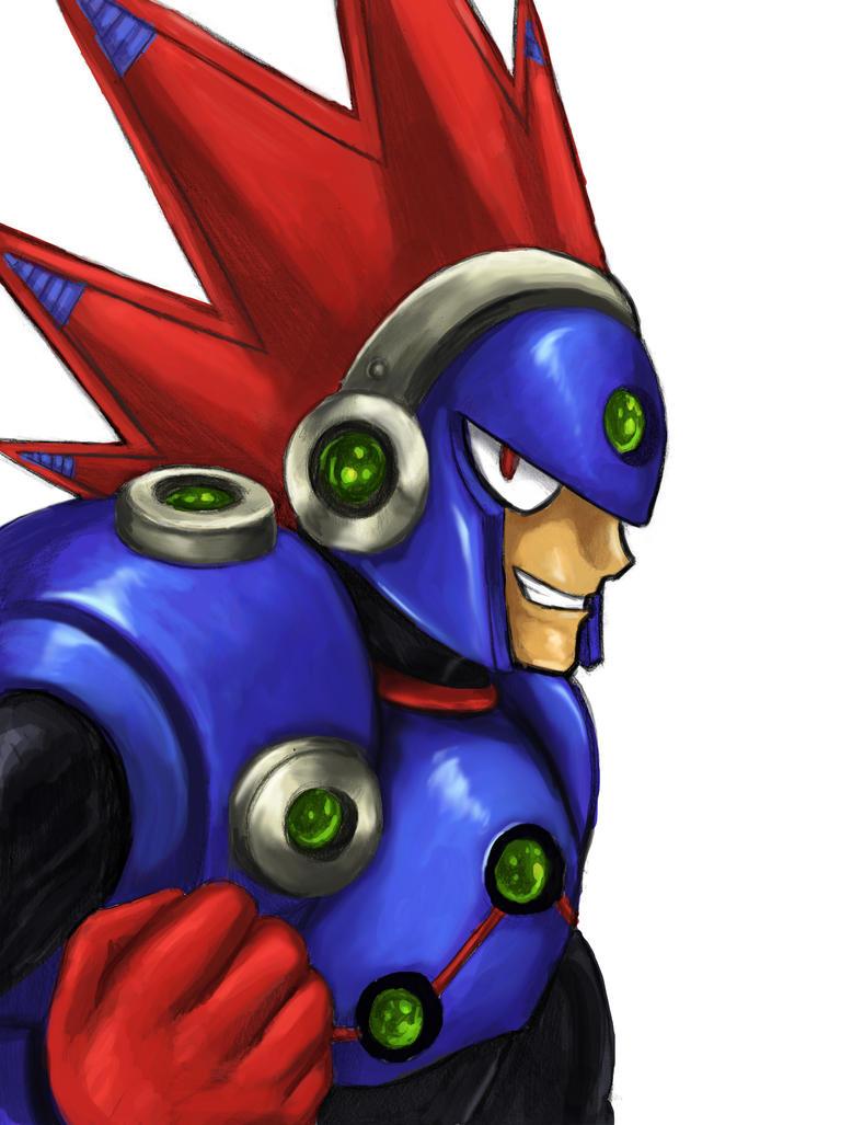 Blastman (Megaman 11) by SoulStryder210